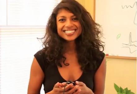 음악 앱 '라디다(LaDiDa)'를 개발해 세계적인 여성 기업인이 된 프레르나 굽타. 후배 창업자들을 위해 엔젤투자자들을 설득하는 방법을 조언하고 있다.  http://www.khu.sh/about.php