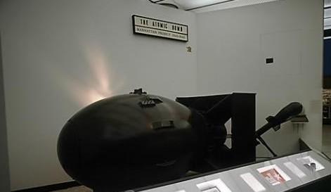 1945년 8월 6일 일본 히로시마에 투하된 리틀보이의 모형. ⓒ 연합뉴스
