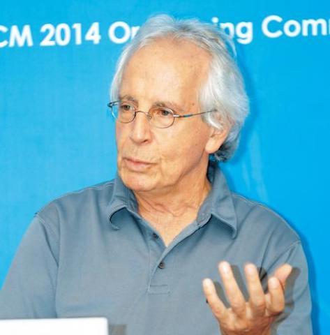 '2014 세계수학자대회'에서 가우스상을 수상한 스탠리 오셔(Stanley Osher, 72) UCLA 교수.  수학으로 영상의 움직임을 설명할 수 있는  '등위집합(Level Set)' 방식을 개발했다.