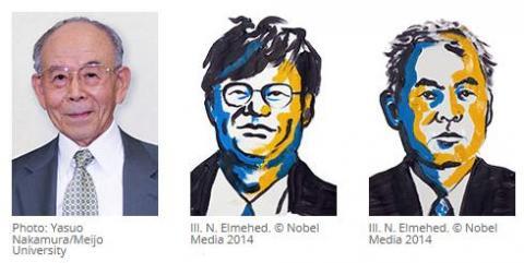 2014년 노벨 생리학상, 화학상, 물리학상을 수상한 9명의 과학자들. 미국, 독일, 일본, 노르웨이의 과학자들이 대다수를 차지하고 있다.    Ⓒhttp://www.nobelprize.org/