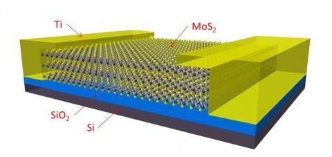 티타늄 전극의 MoS2 트랜지스터 ⓒ ScienceTimes