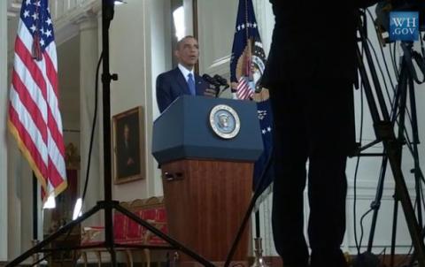 백악관 사이트를 통해 오바마 대통령이 이민법을 개정하는 취지를 설명하고 있다. 개정안 중에는 창업자 등 해외 기술인력의 비자발급을 대폭 완화하는 내용이 들어 있는 것으로 알려졌다.  ⓒhttp://www.whitehouse.gov/