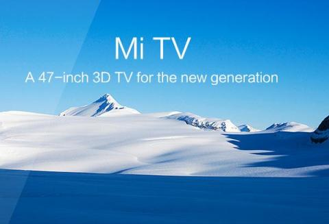 47인치, 3D TV를 홍보하고 있는 중국 가전 업체 샤오미의 웹사이트.  최근 중국 기업의 기술력이 어느 정도 와 있는지 보여주고 있다. ⓒhttp://www.mi.com/