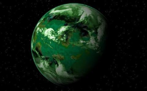 염소가 대기의 상당량을 차지하는 행성의 색깔 - 그림 Steve Bowers and John M Dollan