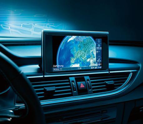 글로벌 자동차사들이 세계 전역에서 수집되고 있는 자동차 관련 데이터를 취합하면서 빅 데이터망을 구축하고 있다. 사진은 자동차업체인 아우디와 통신업체인 ATT가 공동 제작한 커넥티드카 내부. ⓒhttp://www.att.com/