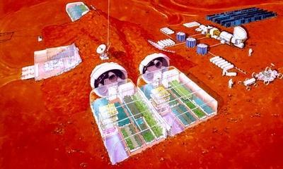 화성 유인기지의 식물공장 상상도 ⓒ NASA