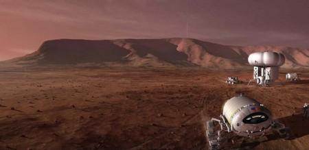 화성 유인 탐사선의 상상도 ⓒ NASA
