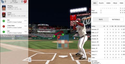 야구게임과 관련해 엄청난 데이터가 축적되면서 기존 야구경기의  모습을 바꿔놓고 있다. 사진은 미국 MLB 사이트. 야구 팬들을 위해 수많은 데이터를 공개하고 있다.  ⓒhttp://mlb.mlb.com/home