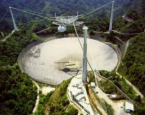 세계 최대 규모의 아레시보 전파망원경. ⓒ 위키피디아 Public Domain
