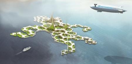 가지구조를 이루며 확장되고 있는 씨스티딩 해상도시 ⓒ seasteading.org