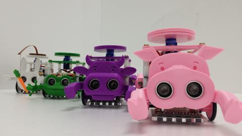 문기석 대표가 개발한 코딩 교육용 로봇 디오. ⓒ ScienceTimes