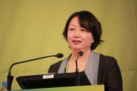 미야우라 치사토 일본 도쿄대 농공대 부총장은 젊은 여성 연구자의 지원에 있어 가장 중요한 것은 '육아'라고 말했다.