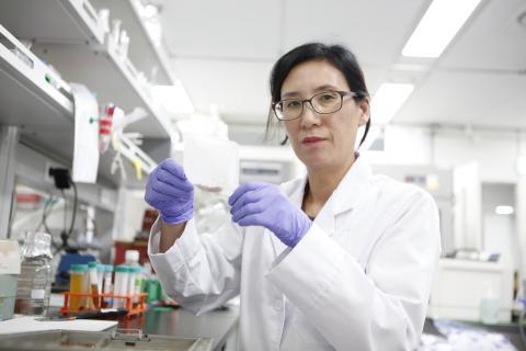 한상미 연구관은 여성이 연구에 온전히 집중할 수 있는 시간이 적기 때문에, 여성과학자의 수도 적다고 보았다. ⓒ 한상미