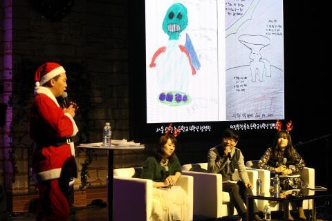 이은희 작가는 학생들이  과학적 상상력을 가지고 그림을 그렸다고 말했다.  ⓒ 김의제 / ScienceTimes