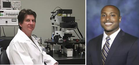 비만이 뇌 해마에서 DNA의 변화를 일으켜 기억력에 영향을 준다는 사실을 분자적으로 규명한 연구를 이끈 미국 앨라바마 버밍엄대학 데이비드 스웨트 교수(왼쪽)와 논문 제1저자인 프랭키 헤이워드 박사. ⓒ UAB / UNCF