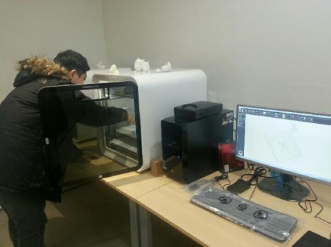 3D프린터로 출력물을 만들고 있는 모습. ⓒ 김지혜 / ScienceTimes