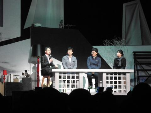 과학토크에는 정하웅 교수가 사회를 맡고 윤성철 교수, 김상욱 교수, 정애리 교수가 패널로 참여했다.(왼쪽부터) ⓒ김순강/ ScienceTimes