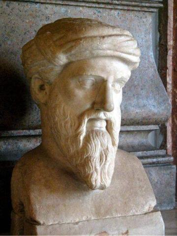 로마 카피톨리누스 박물관에 있는 사모스의 피타고라스 흉상. ⓒ Galilea