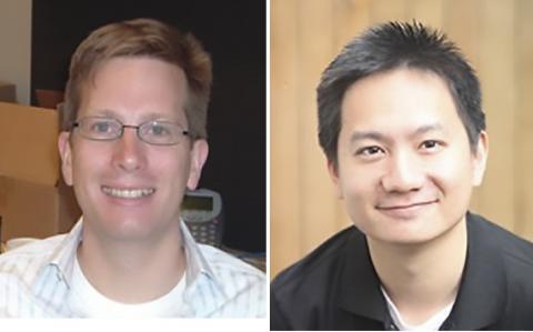 논문을 지도한 앤드류 이월드 존스홉킨스의대 교수(왼쪽)와 제1저자인 케빈 정 프레드허친슨암연구소 연구원 ⓒ Johns Hopkins Univ./ Fred Hutchinson Cancer Research Center