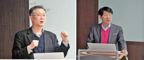발제자로 나선 안종주 박사(왼쪽)와 전형준 교수(오른쪽) ⓒ 과학언론인회 / 이순재