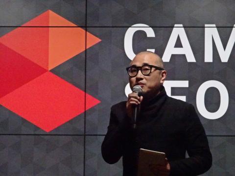 배달앱서비스 '배달의 민족' 김봉진 대표가 키노트 연설을 하고 있다.