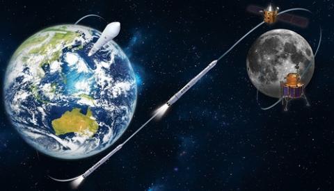 한국형 달 궤도선의 개념도 ⓒ 항공우주연구원