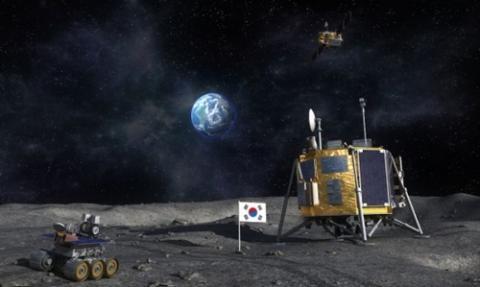 달에 착륙한 대한민국 탐사선 상상도 ⓒ 미래부