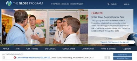 Globe 사업 홈페이지 ⓒ GIO.org