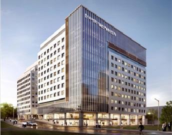 과총이 주관해 2017년 하반기 준공을 목표로 하고 있는 과학기술인 복지콤플렉스. 과총이 자리잡고 있는 한국과학기술회관 본관을 약 16,000㎡, 총 16층(지상 11층, 지하 5층) 규모로 수평 증축하여 건립될 예정이다. ⓒ 한국과학기술단체총연합회