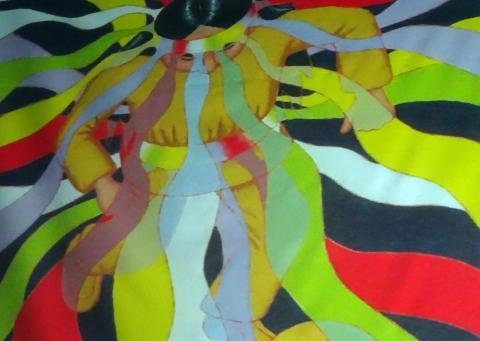 오로라를 찾아 떠난 소년과 백발의 추장이 오로라의 길을 발견하는 모습을 그린 '오로라 이야기(Stories of Aurora)'. 아름다운 삽화는 로나 베넷이 그렸다.