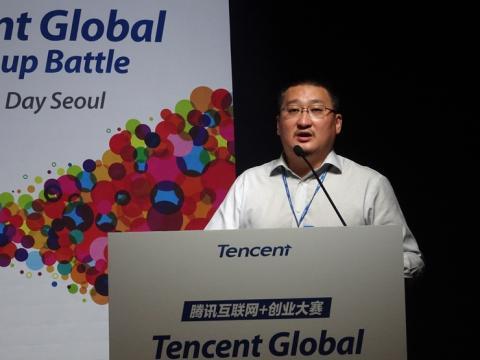 """중국 텐센트 오픈플랫폼 허우 샤오난 대표는 """"아이디어와 기술력만 있으면 나머지 장애를 전부 지원해주겠다""""고 밝혔다."""
