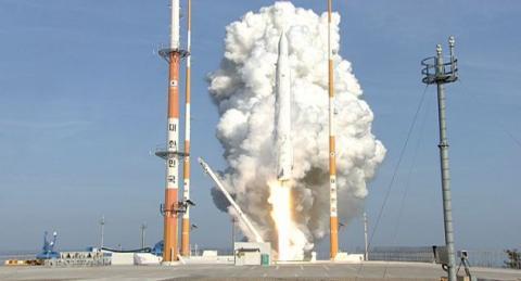 국산 로켓인 나로호 발사장면 ⓒ 항공우주연구원