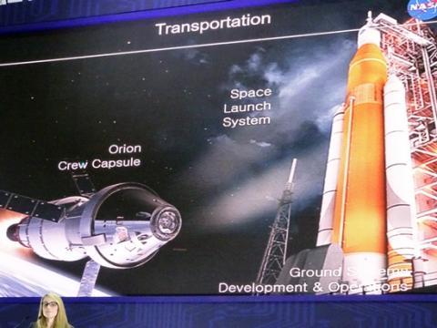 화성을 탐사할 오리온호와 오리온호를 쏘아올릴 로켓 시스템. ⓒ 김은영/ ScienceTimes