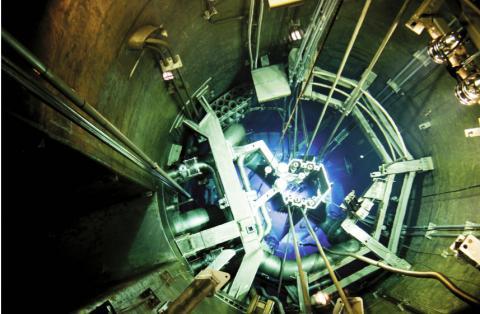 연구용 원자로인 '하나로'의 노심