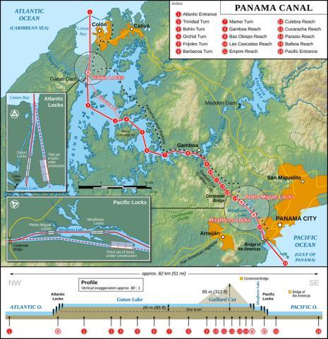파나마 운하. ⓒ 위키피디아