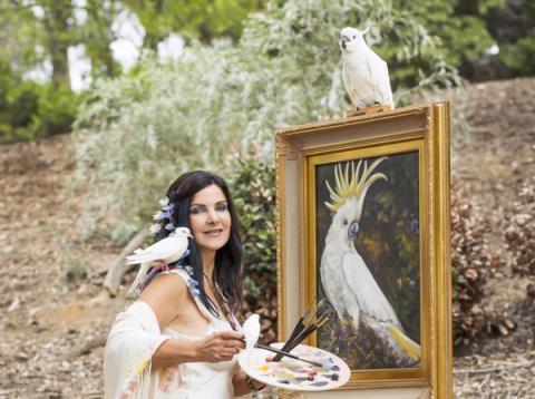 사색자로 확인된 콘세타 안티코는 그림을 가르치는 화가이다. ⓒ concettaantico.com