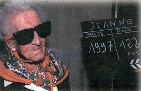 기록으로 확인된 사람중 가장 오래 살았던 프랑스의 잔느 칼망. ⓒ 잔느 칼망 갤러리