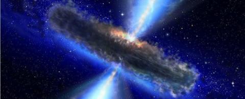 퀘이사 상상도 ⓒ NASA/ESA