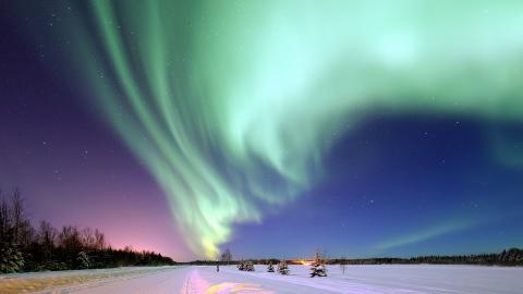 빛의 오묘한 조화, 알래스카 오로라 ⓒ pixabay