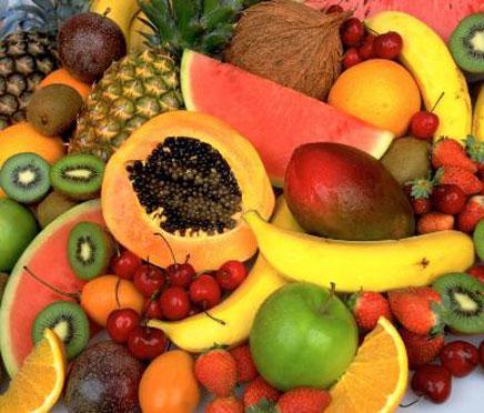 2색형 색각으로 본 과일(위)과 3색형 색각으로 본 과일(아래). 3색형 색각으로 봐야 과일의 성숙도를 쉽게 판단할 수 있다.  ⓒ marmosetcare.com