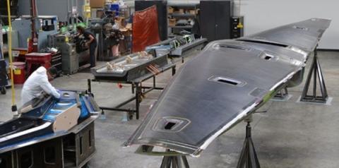 무인 수직 이착륙기의 날개 부분이 제작되고 있다  ⓒ DARPA