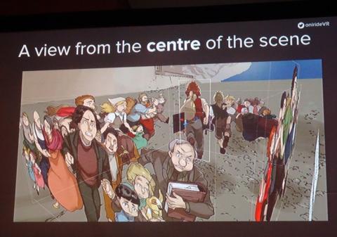 오니라이드에서 제작하고 있는 VR코믹스에는 전통적인 만화 기법인 2D 캐릭터들이 존재해 기존 만화의 재미를 준다. ⓒ 김은영/ScienceTimes