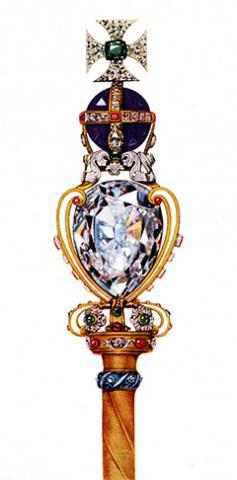 영국 왕실에서 대관식때 사용하는 지팡이인 왕홀을 장식한 컬리난 다이아몬드 ⓒ위키피디아