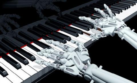 로봇은 음악 연주에서 인간의 신체로는 불가능에 가까운 매우 빠르고 복잡한 구조의 화음을 연주해내기도 한다. 사진은 로봇 피아니스트 이미지. ⓒ 로봇신문