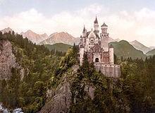 루트비히2세가 체포된 노이슈반스타인 성. 디즈니랜드의 모델이 된 성이다. ⓒ 위키백과