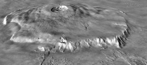 태양계 최대 화산인 화성의 올림푸스 몬스((Olympus Mons). ⓒ 위키미디어