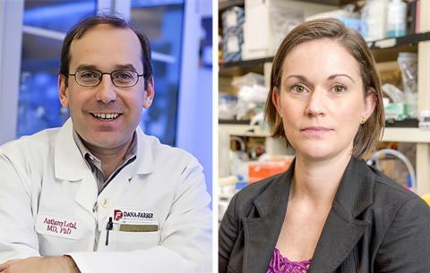 선천 면역계의 대식세포를 활용한 암 치료법을 발표한 다나-화버 암연구소의 앤서니 리타이 박사(왼쪽)와 논문 제1저자인 제니퍼 게리에로 박사 Credit: Dana-Farber Cancer Institute