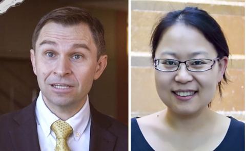연구를 수행한 하버드의대 데이비스 싱클레어 교수(왼쪽)와 논문 제1저자인 준 리(JUn Li). credit : The Sinclair Lab