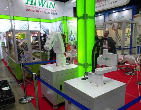 대만의 모션컨트롤 전문기업 하이윈(HIWIN)도 지능형 오토메이션 로봇을 선보였다. ⓒ 김은영/ScienceTimes