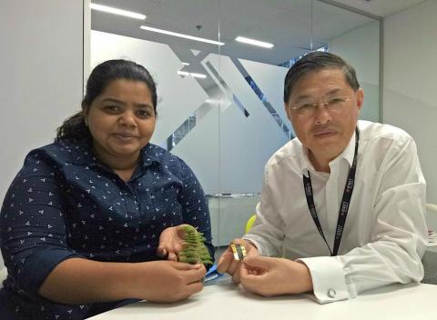 구민 교수(오른쪽)과 테케카라 연구원 ⓒ RMIT